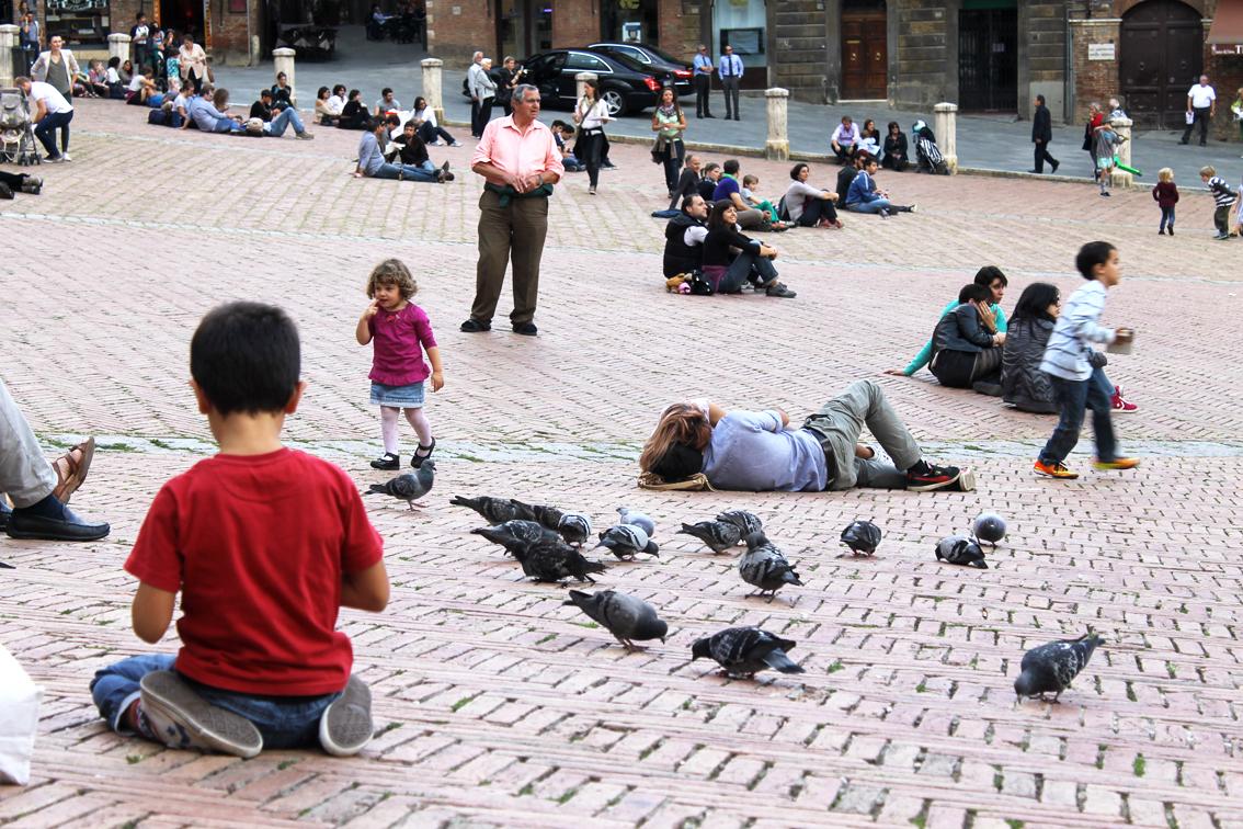 Piazza del Campo i Siena. En av våra italienska favoritplatser.