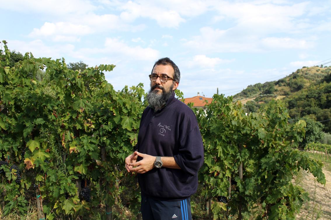 Hård beskärning och tät odling är Marco Casolanettis recept på kvalitet.
